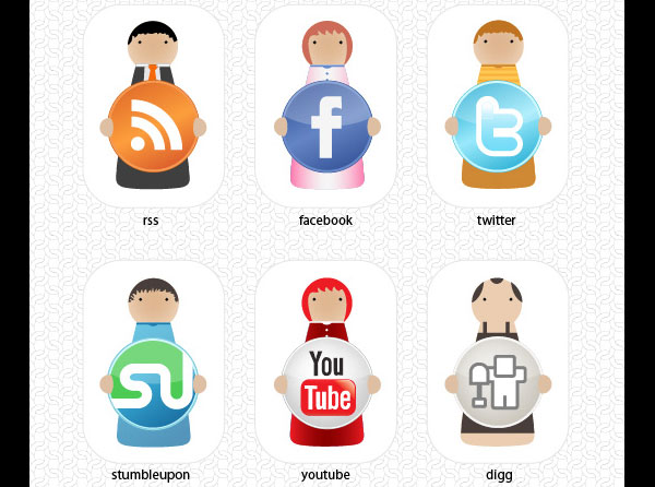 o6 social media character set 84 Massive Social Media Icon Collection