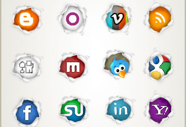 pagepeel preview image 84 Massive Social Media Icon Collection
