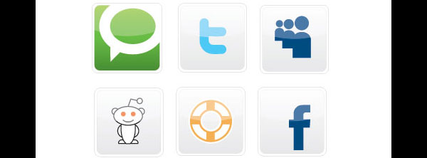 Free Vectors – 20 Free Social Bookmarking Icons