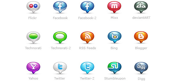 Bubblicons Icon Set