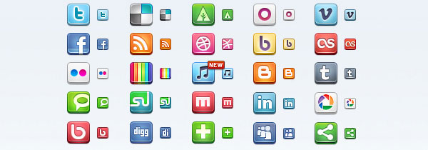 preview7 84 Massive Social Media Icon Collection
