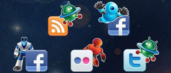 robot 84 Massive Social Media Icon Collection