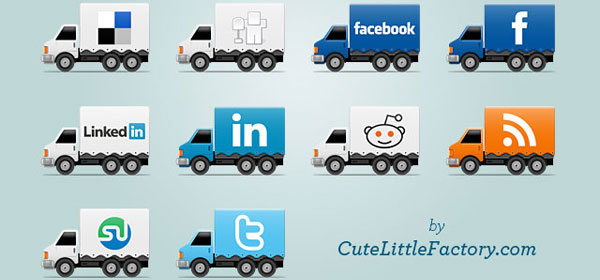 social trucks title card 640 84 Massive Social Media Icon Collection