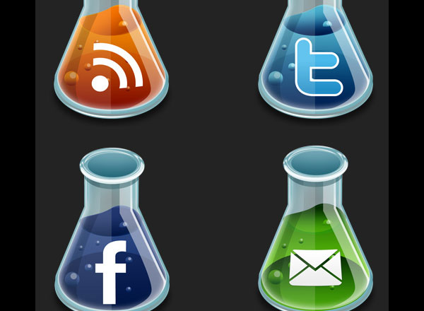 New and Free Social Media Icon Set For Your Blog
