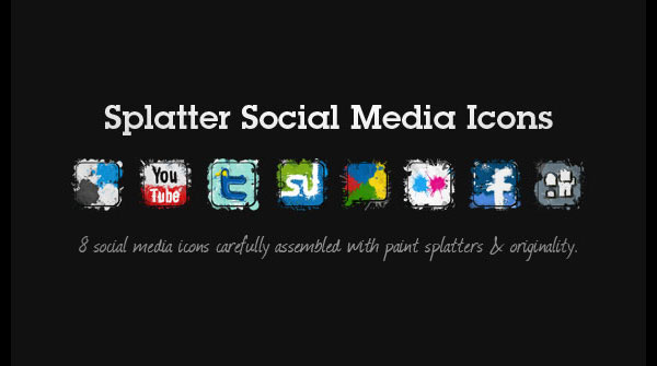 splatter social icons1 84 Massive Social Media Icon Collection