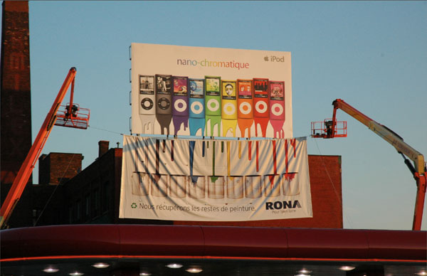 Rona recycled paint from Apple