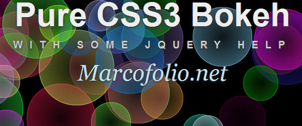 Bokeh effects with CSS3 and jQuery