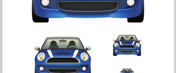 How To Design A Detailed Mini Cooper Icon In Photoshop