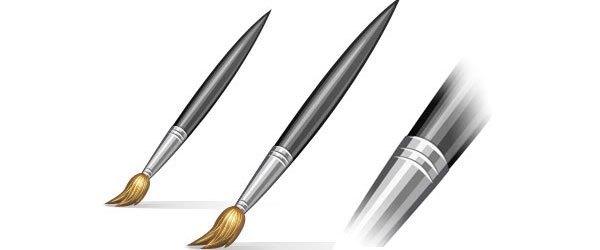 Create a Beautiful Paint Brush Icon in Photoshop