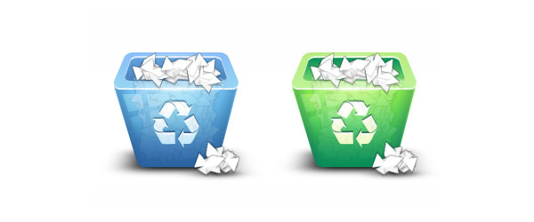 trash preview 21 Best Tutorials for Creating Icons in Photoshop from 2010