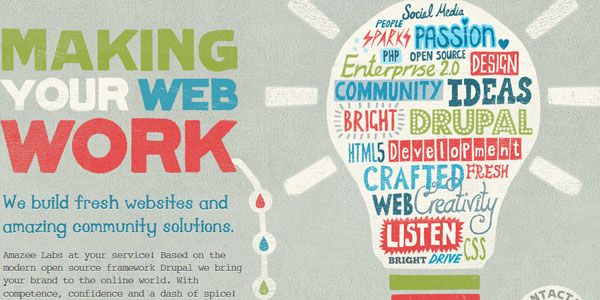 amazeelabs 22 Amazing Illustrated Web Designs