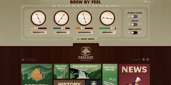 cascadebreweryco 22 Amazing Illustrated Web Designs
