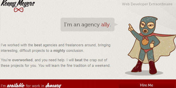 kenny 22 Amazing Illustrated Web Designs