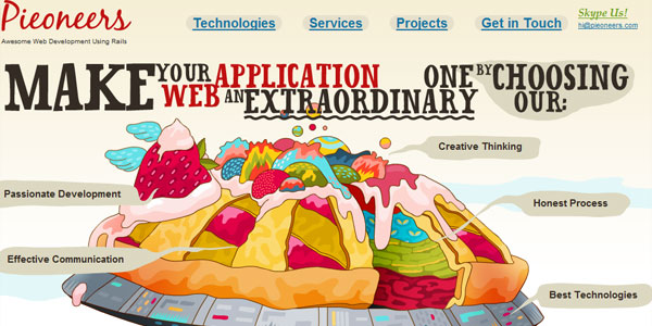 pieoneers 22 Amazing Illustrated Web Designs