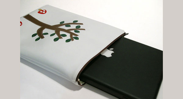 Tree and Mushroom Laptop Sleeve
