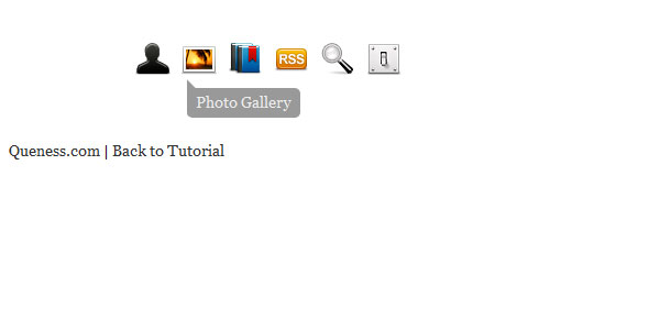 jQuery Horizontal Tooltips Menu Tutorials