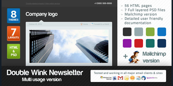 Double Wink Newsletter Multi-usage Version