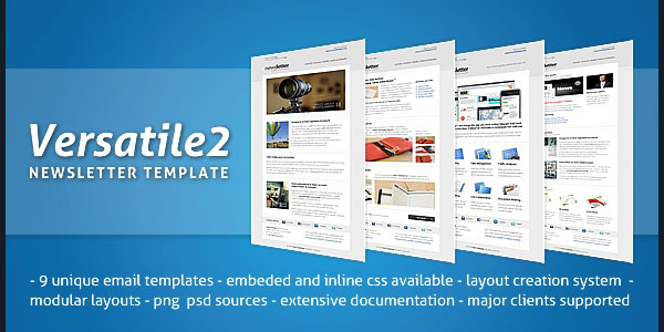 1 versatile v2 preview 590 136 Best Email Templates