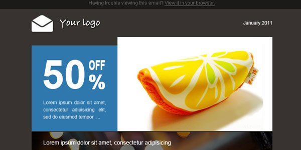 Layout blue 136 Best Email Templates