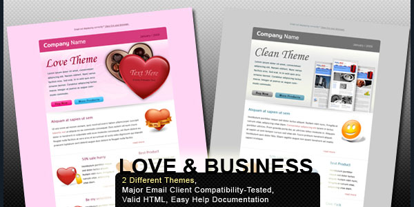 Valentine and Business - Email Template