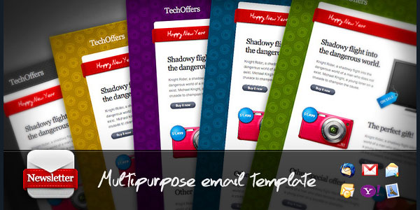 techoffers multipurpose minimalist newsletter
