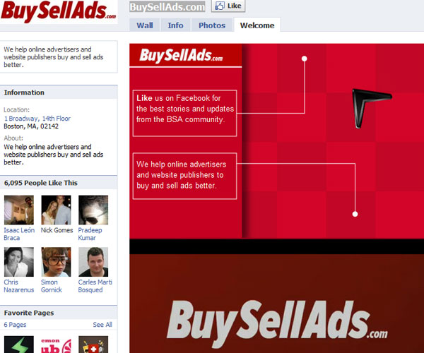 buysellads 20 Top Well Designed Facebook Pages Design