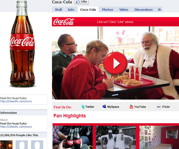 cocacola 20 Top Well Designed Facebook Pages Design