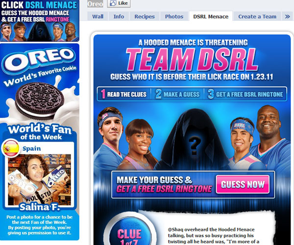 oreo 20 Top Well Designed Facebook Pages Design