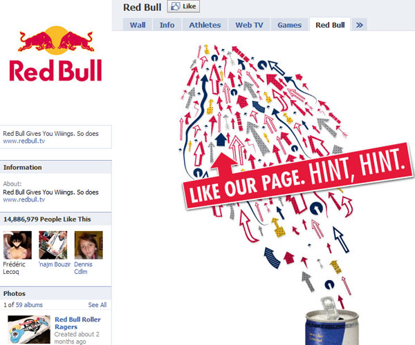 redbull 20 Top Well Designed Facebook Pages Design