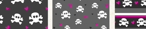 Skulls and Hearts PS patterns by ashzstock 1 Million Photoshop Backgrounds