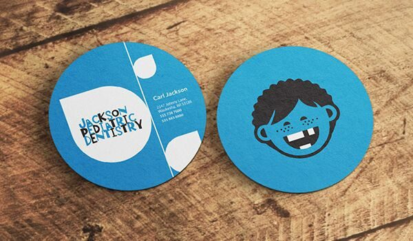 round dentistry business card