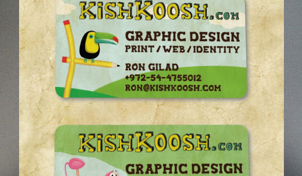 Kishkoosh.com Business Cards