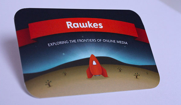 Rawkes business card
