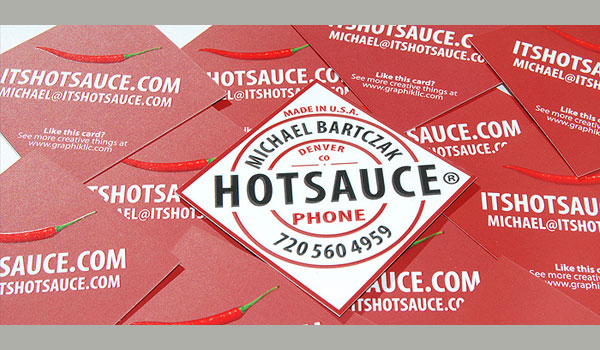 sauce businesscard 50 Unique Business Cards