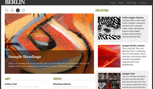 berlin wordpress theme 25 Free Wordpress Minimal Portfolio Themes