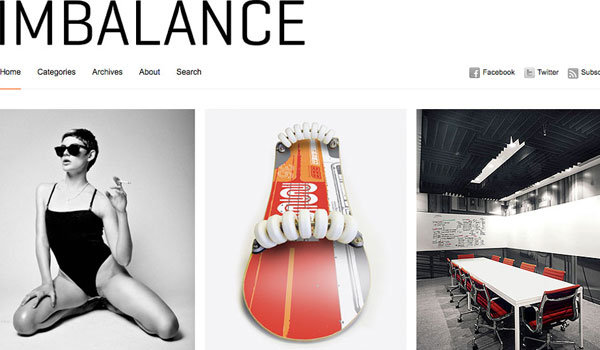 imbalance free theme 25 Free Wordpress Minimal Portfolio Themes