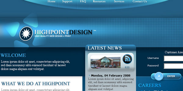 35 awesome free psd templates business website template no1 accmission Choice Image