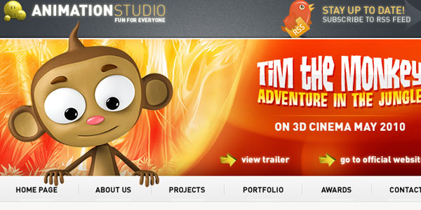 Download animation studio psd template
