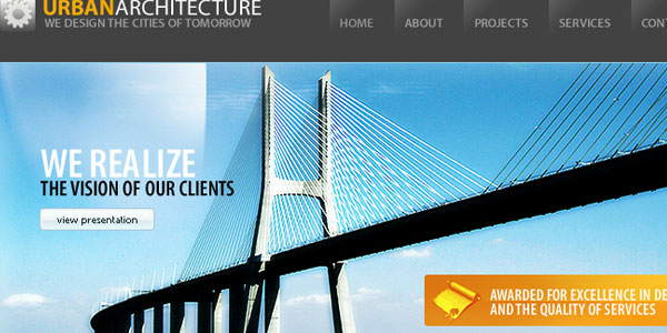 Urban Architecture PSD Template
