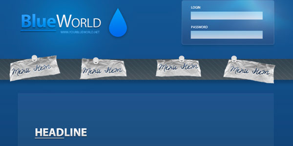 BlueWorld Website Template PSD