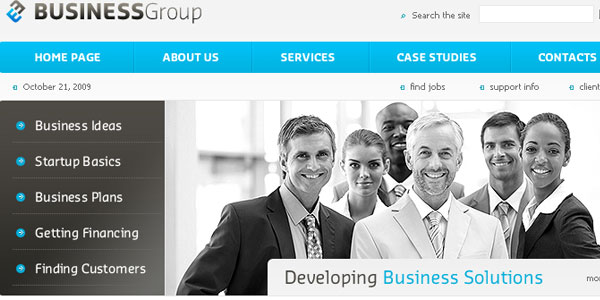 Business Group PSD Template