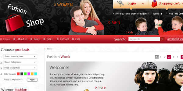 Fashion Shop - Web template