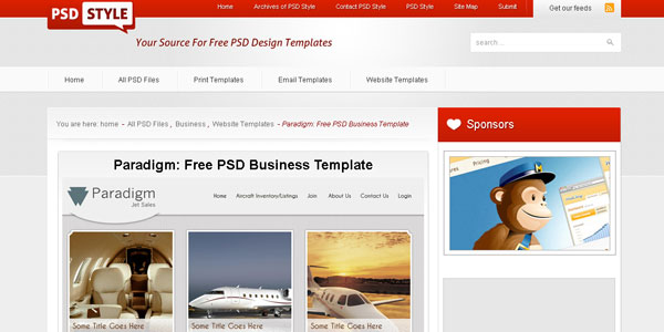 Paradigm: Free PSD Business Template