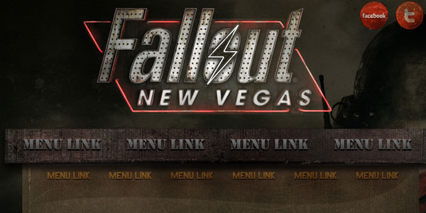 Fallout New Vegas website PSD