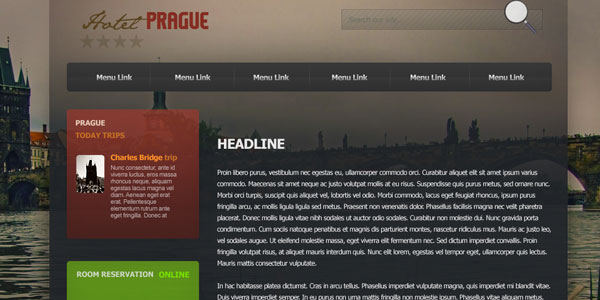 Hotel Prague Website Template