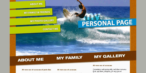 personal website template 35 Awesome Free PSD Templates