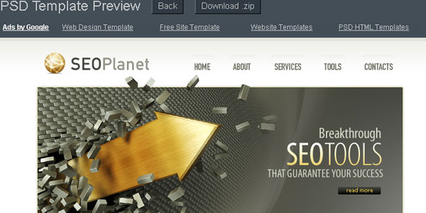 SEO Planet PSD Template