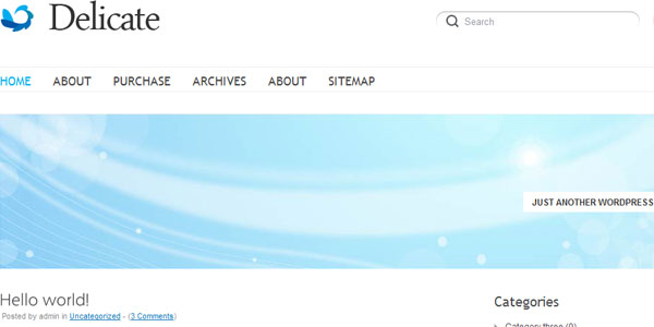 delicate 110 Free WordPress Themes For 2011
