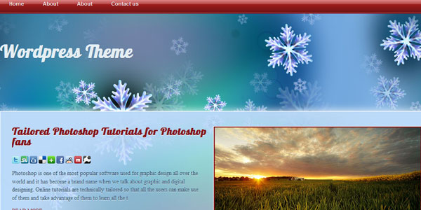 Free WordPress Theme for Chistmas