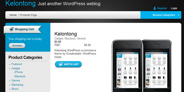 Free WordPress Shopping Cart eCommerce Themes